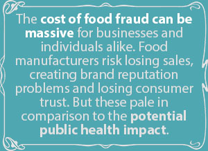Costs of poor food quality can be massive.