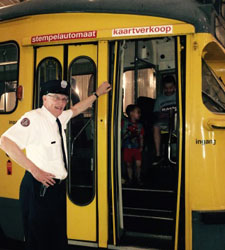 Hermes van der Lee, Volunteer Trolley Docent