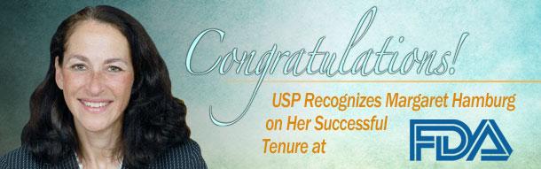 USP Congratulates Margaret Hamburg