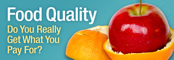 Food quality: do you really get what you pay for?